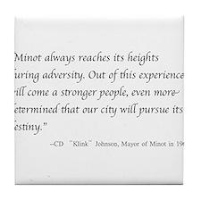 Klink's Wisdom Tile Coaster