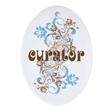 Curator Gift Ornament (Oval)