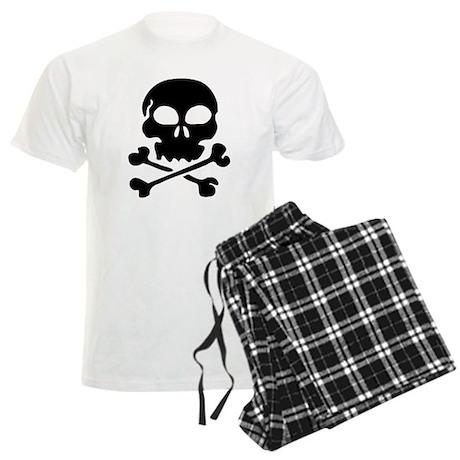 Pirate Skull with Crossbones Men's Light Pajamas