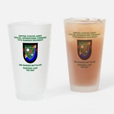 2nd Ranger Battalion Flash Pint Glass