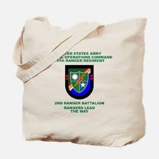 2nd Ranger Battalion Flash Tote Bag