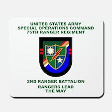 2nd Ranger Battalion Flash Mousepad