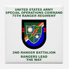 2nd Ranger Battalion Flash Tile Coaster