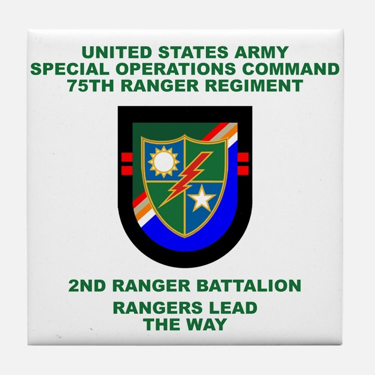 2nd Ranger Battalion Flash Tile Coaster