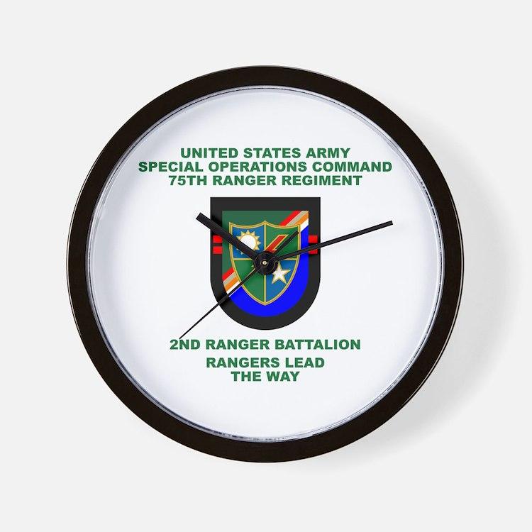 2nd Ranger Battalion Flash Wall Clock