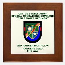 2nd Ranger Battalion Flash Framed Tile