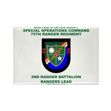 2nd Ranger Battalion Flash Rectangle Magnet