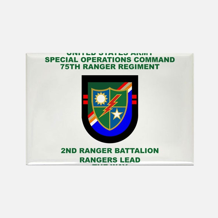 2nd Ranger Battalion Flash Rectangle Magnet