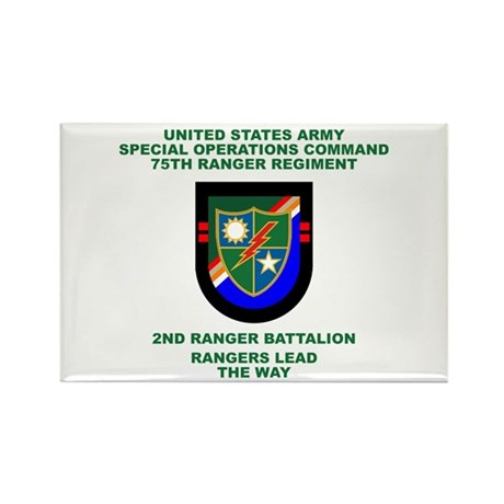 2nd Ranger Battalion Flash Rectangle Magnet (10 pa