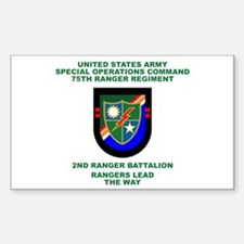 2nd Ranger Battalion Flash Decal
