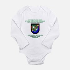 3rd Ranger Battalion Flash Long Sleeve Infant Body
