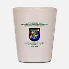 3rd Ranger Battalion Flash Shot Glass
