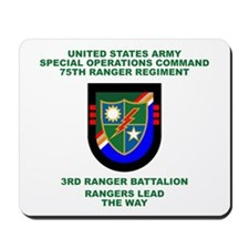 3rd Ranger Battalion Flash Mousepad
