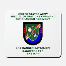 3rd Ranger Battalion Flash Mousepad