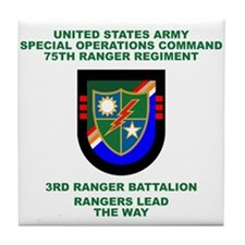 3rd Ranger Battalion Flash Tile Coaster