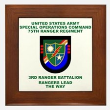 3rd Ranger Battalion Flash Framed Tile