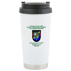 3rd Ranger Battalion Flash Travel Mug