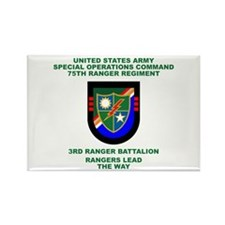 3rd Ranger Battalion Flash Rectangle Magnet