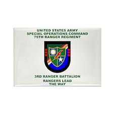 3rd Ranger Battalion Flash Rectangle Magnet
