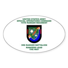 3rd Ranger Battalion Flash Decal