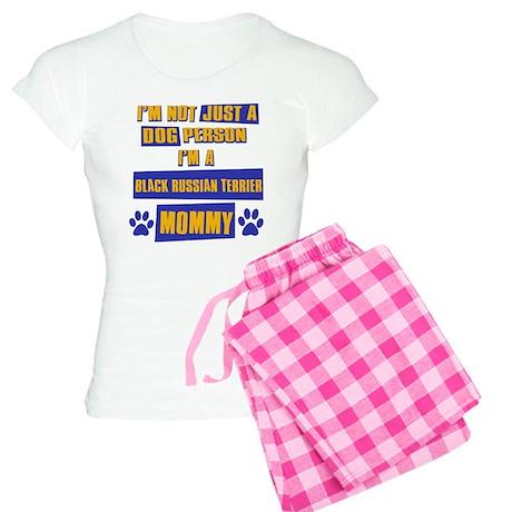 Black Russian terrier Mommy Women's Light Pajamas