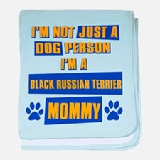 Black Russian terrier Mommy baby blanket