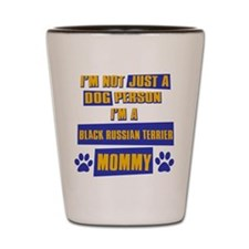 Black Russian terrier Mommy Shot Glass