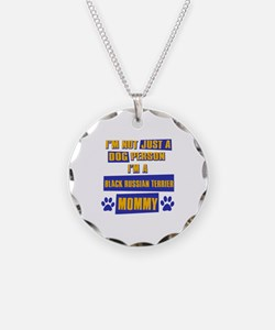 Black Russian terrier Mommy Necklace