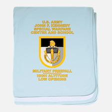 Special Warfare Center MFF baby blanket