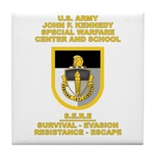 Special Warfare Center SERE Tile Coaster