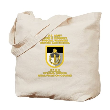 Special Warfare Center SFQC Tote Bag