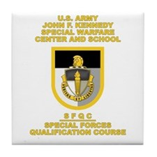 Special Warfare Center SFQC Tile Coaster
