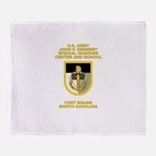 Special Warfare Center Throw Blanket