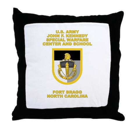 Special Warfare Center Throw Pillow
