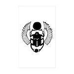 Egyptian Scarab Symbol Sticker (Rectangle 50 pk)