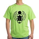 Egyptian Scarab Symbol Green T-Shirt