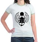 Egyptian Scarab Symbol Jr. Ringer T-Shirt