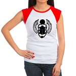 Egyptian Scarab Symbol Women's Cap Sleeve T-Shirt