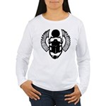 Egyptian Scarab Symbol Women's Long Sleeve T-Shirt