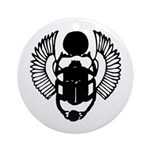 Egyptian Scarab Symbol Ornament (Round)