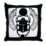 Egyptian Scarab Symbol Throw Pillow