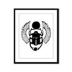 Egyptian Scarab Symbol Framed Panel Print