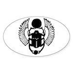 Egyptian Scarab Symbol Sticker (Oval 10 pk)