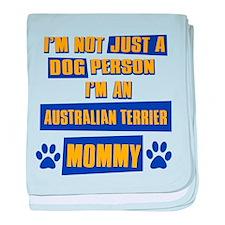 Australian terrier Mommy baby blanket