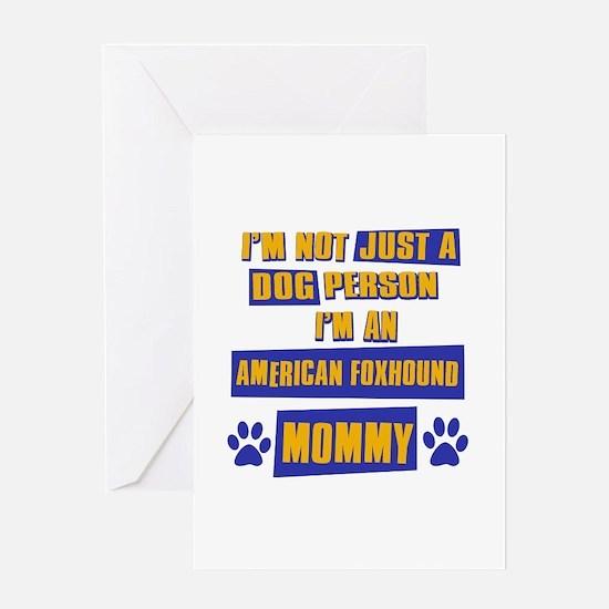 American fox hound Mommy Greeting Card