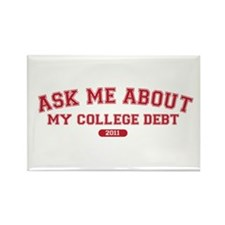 Ask Me College Debt 2011 Rectangle Magnet