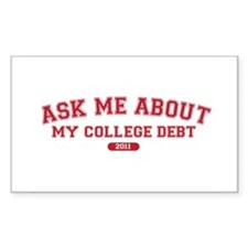 Ask Me College Debt 2011 Decal