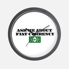 Ask Me Fiat Currency Wall Clock
