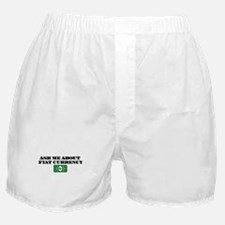 Ask Me Fiat Currency Boxer Shorts