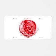 Rose by Joe Monica Aluminum License Plate